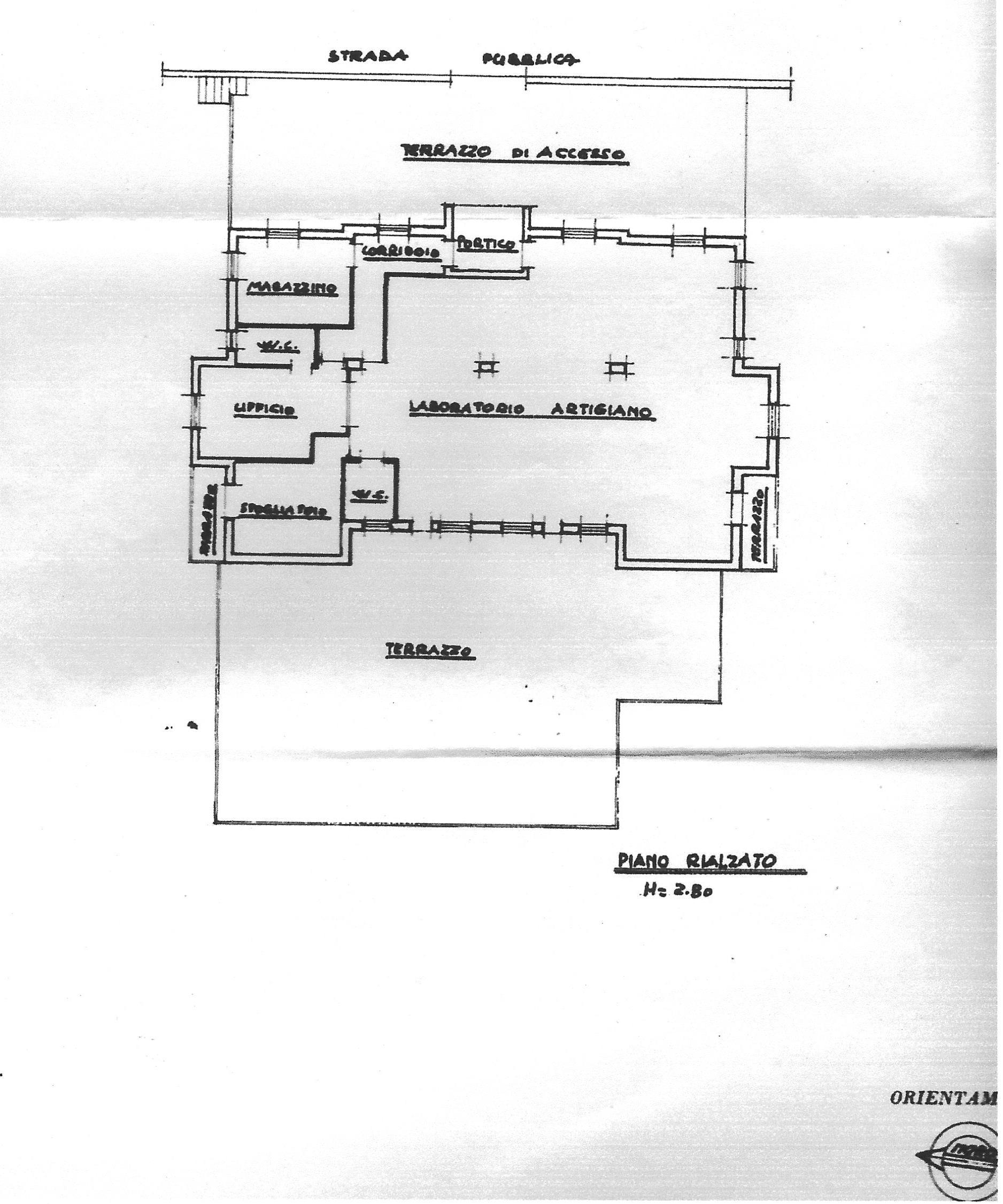 Valfabbrica - Planimetria piano rialzato